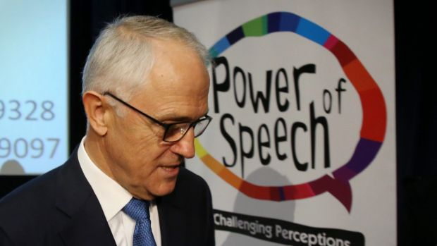 Prime Minister Malcolm Turnbull attended the Power of Speech awards on Tuesday 21.