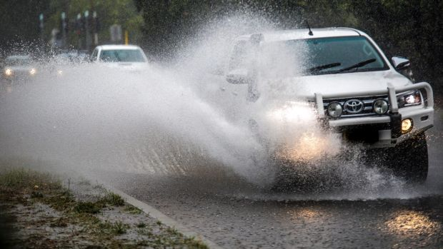 Motorists battled high water levels on Wentworth Avenue in Kingston on Tuesday.