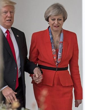 British Prime Minister Theresa May and US President Donald Trump during her visit to the White House in January.