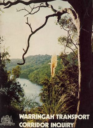 The cover of the Warringah Transport Corridor Inquiry of 1983 was a photograph by Max Dupain, which had formed the ...