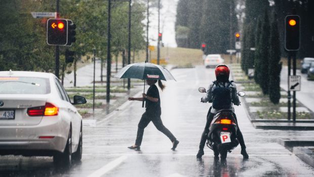 Canberra is forecast to cop a soaking on Monday.