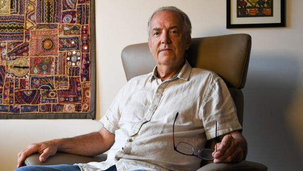 Michael Gill, a victim of CommInsure who has rheumatoid arthritis and whose claim was rejected based on an outdated ...