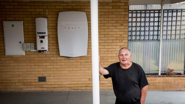 Changing times: not far from Hazelwood, Morwell resident Robert Freeman has installed a battery pack linked to rooftop ...