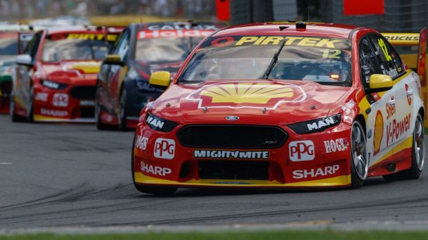 Red hot: Fabian Coulthard of DJR Team Penske shows his style during the Australian Grand Prix at Albert Park this year.