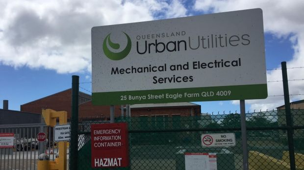 The Queensland Urban Utilities pump plant at Eagle Farm, where a fault in March 2017 caused sewage to be pumped into the ...
