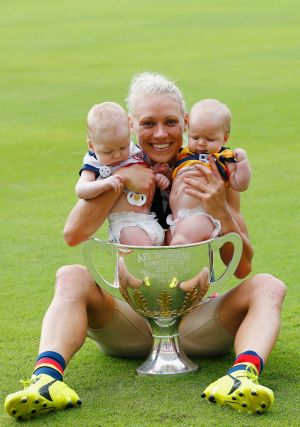 Erin Phillips uses the app to post training and family snaps.
