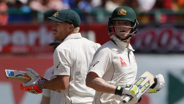 Not backing down: Australian captain and vice-captain Steve Smith (right) and David Warner.