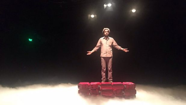 A scene from <i>Manus</i>, a play in Iran putting the spotlight on Australia's treatment of asylum seekers.