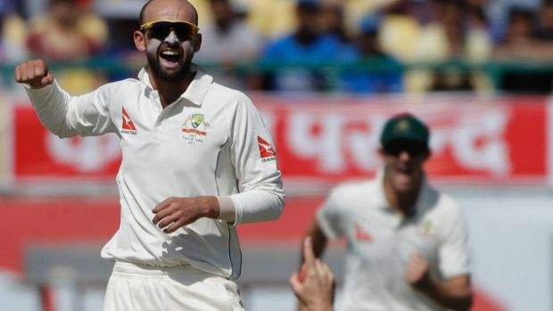 Not Lyon: Nathan Lyon stars on day two of the fourth test, taking four wickets.