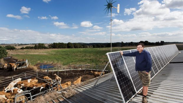 Victorian dairy farmer Lindsay Anderson, also an exporter of solar power back to the grid.