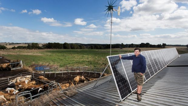 Lindsay Anderson is a dairy farmer in Athlone, Victoria. More than one in every five Australian homes has solar panels.