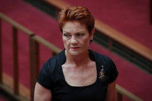 """""""Go and buy some non-halal Easter eggs and chocolate and have a happy Easter,"""" Pauline Hanson said in the post to her ..."""