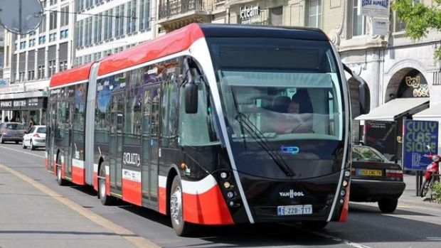 The Inner West Council wants trackless trams, like the one pictured above, to carry commuters along Parramatta Road.