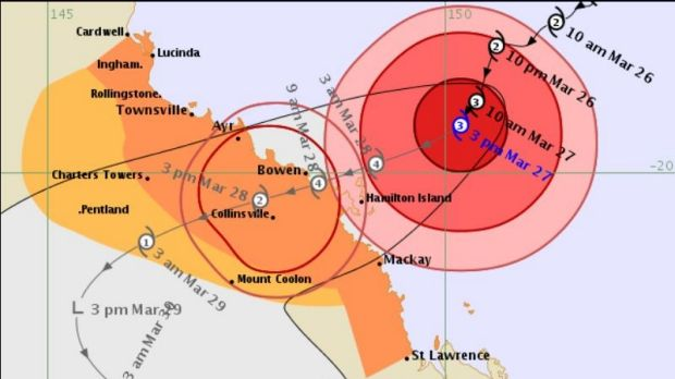 Mackay residents have been warned to evacuate ahead of a 2.5m storm surge.