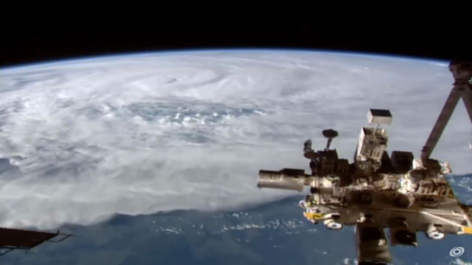 Tropical Cyclone Debbie as seen from the International Space Station.