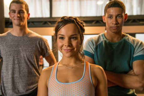 Reunion: (From left) Thomas Lacey, Dena Kaplan and Keiynan Lonsdale are back, and on the big screen, in <i>Dance ...
