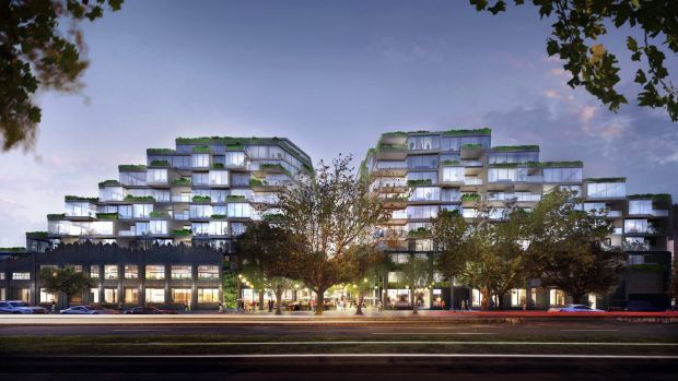 The 12-level plan for the Queens Parade site in North Fitzroy that was to go to VCAT on Monday. It has now been thrown ...