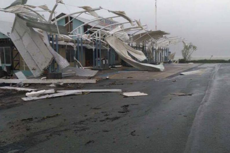 Shute Harbour at Airlie Beach after Cyclone Debbie.
