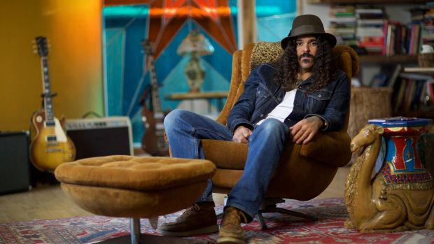 Brant Bjork - stoked to be up front singing and playing guitar.