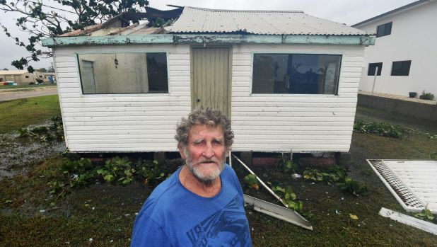 John Andersen feared the worse after returning to his beach shack from the storm shelter.