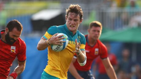 Smart mover: Con Foley playing for Australia at the Rio Olympics.