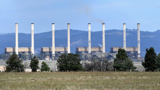 The last smoke from the chimneys of the Hazelwood power plant in late March.