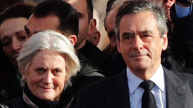 French conservative presidential candidate Francois Fillon with wife Penelope.