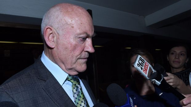 Former NSW mining minister Ian Macdonald leaves the NSW Supreme Court after being found guilty of misconduct in public ...