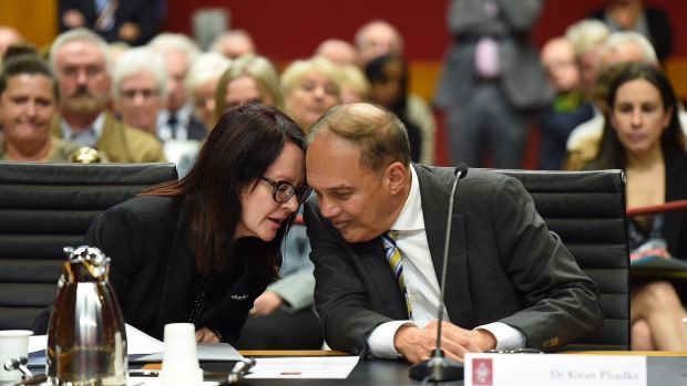 Dr Kiran Phadke (right) was supported by roughly 180 former patients and community members as he gave evidence to a ...