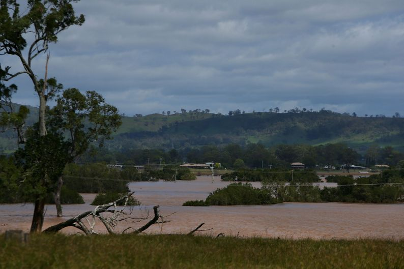 Flooding in Beaudesert in the wake of Cyclone Debbie.