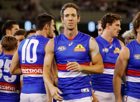 He'll go down as a club great. Congratulations, Robert Murphy, on 300 AFL games with the Western Bulldogs.