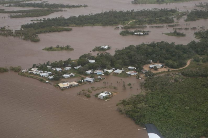 The Australian Defence Force captures the scale of flooding in North Queensland.