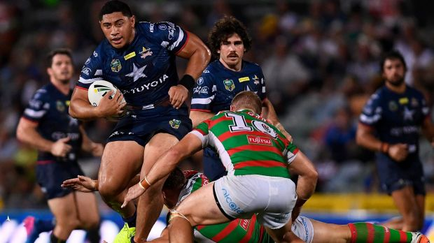 Jason Taumalolo bends the South Sydney line.