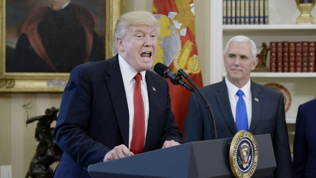 Pence with President Donald Trump in the Oval Office.
