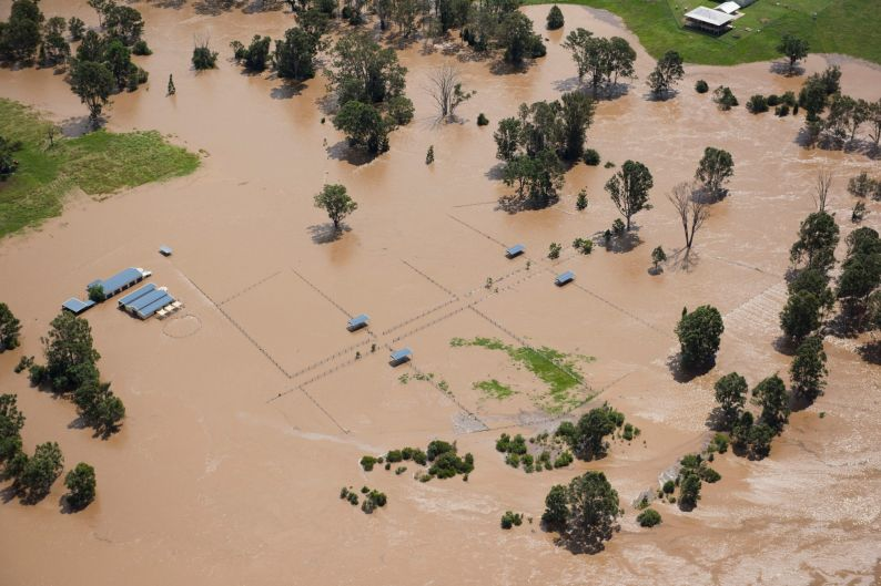 Logan flooding in the aftermath of Cyclone Debbie.