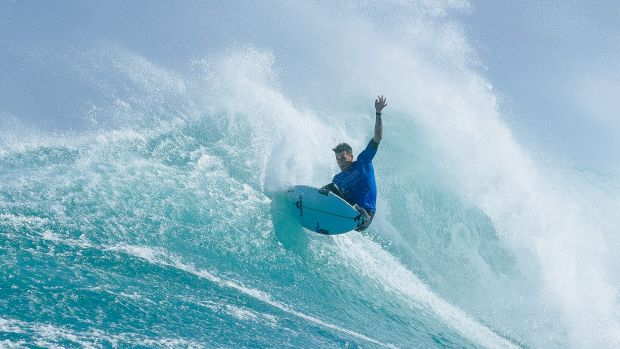 The show must go on. Action from the Margaret River Pro.