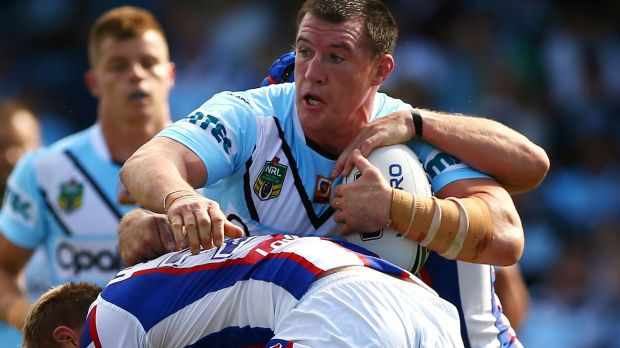 In the wars: Paul Gallen of the Sharks.