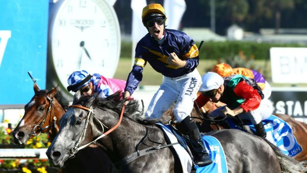 Tommy Berry rides Chautauqua to win the Darley T. J. Smith Stakes.