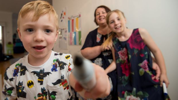 Shannon Wright and her children, Alexandra, 8, who has learning difficulties and Christian, 4, who has a speech disorder.