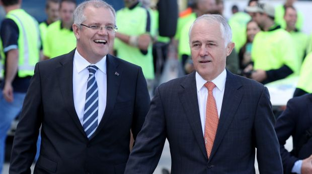 Treasurer Scott Morrison and Prime Minister Malcolm Turnbull