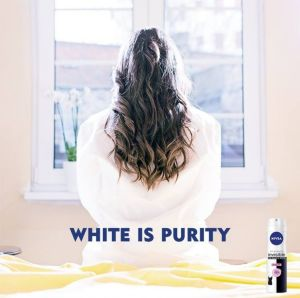 "Nivea pulled an ad using the tagline ""White is purity"" when it became widely circulated on social media accounts for ..."