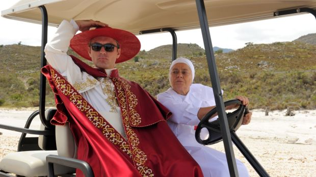 Jude Law and Milvia Marigliano in <i>The Young Pope</i>.