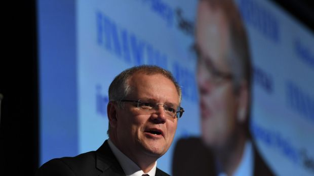 Don't listen to what Treasurer Scott Morrison says, but watch what he does.