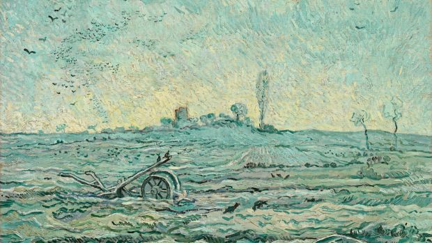 <i>Snow-Covered Field with a Harrow (after Millet)</i>, from 1890.