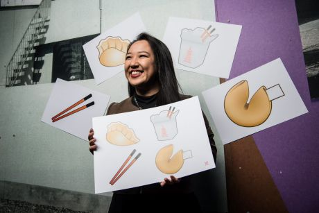 Graphic artist Yiying Lu, whose four new emoji designs will soon be released on mobile devices worldwide.