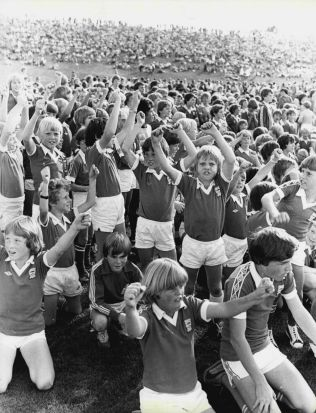 5,000 children take part in Anzac Day celebrations before the World Cup qualifying match between Australia and New ...