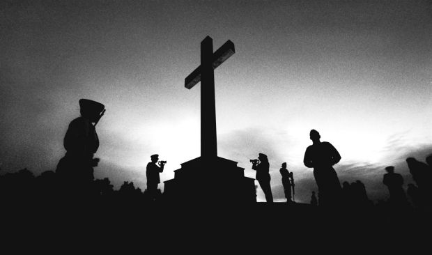 Dawn Service at Mount Macedon, 1996.