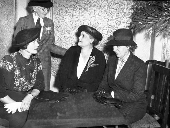 Guests at a reunion of Australian army nursing sisters at the Carlton Hotel in Sydney on Anzac Day, 1939.