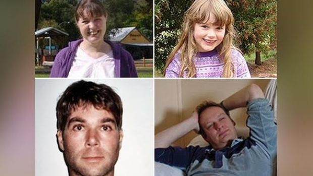 Pictured are Chantelle McDougall and her daughter Leela (top) and Tony Popic (bottom left) and Simon Kadwell, also known ...