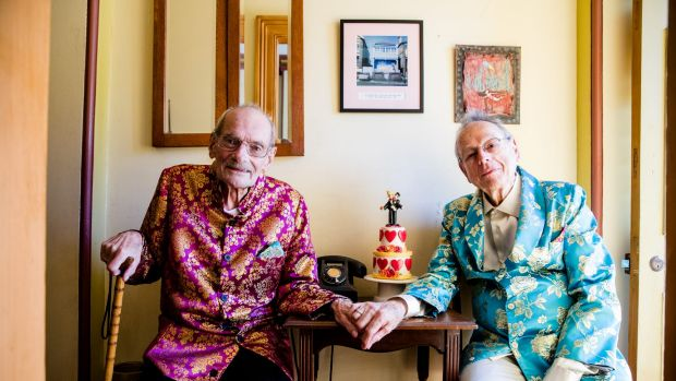 Peter Bonsall-Boone and Peter de Waal, who marched in first Mardi Gras. Bonsall-Boone is very ill and will likely die in ...